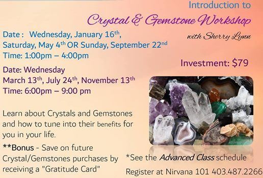 Introduction to Crystal & Gemstone Workshop with Sherry