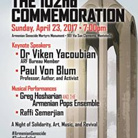 Armenian Genocide Commemoration at the Montebello Monument