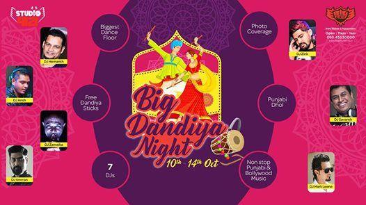 Big Dandiya Night From 10th Oct to 14th Oct