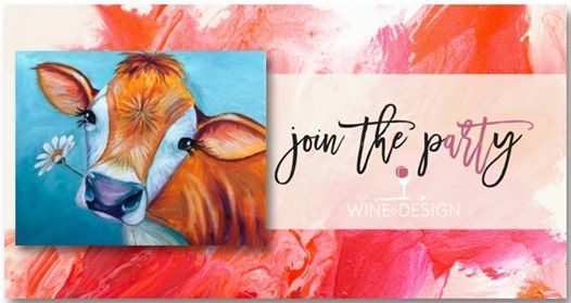 Sip Paint Daisy Cow At Wine Design Clayton Nc Carolina