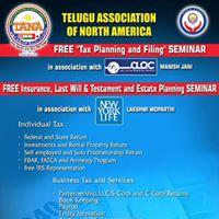 Free Tax Planning Filing and Insurance Estate Panning Seminar