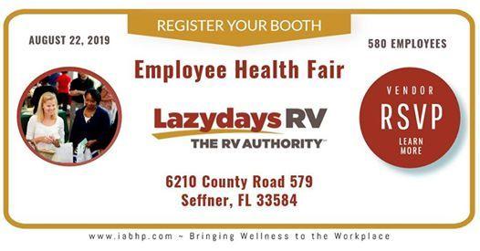 Lazydays RV Employee Health Fair - Register Your Booth