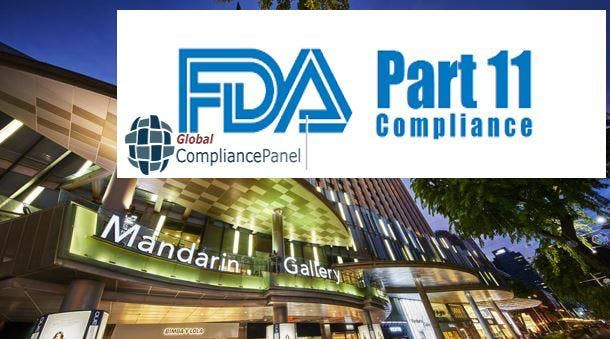 Singapore 21 CFR Part 11 Compliance Seminar 2018