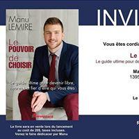 Lancement livre Manu Lemire &quotLe Pouvoir De Choisir&quot