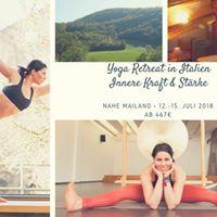 Yoga Retreat in Italien nahe Mailand 12.-15. Juli 2018