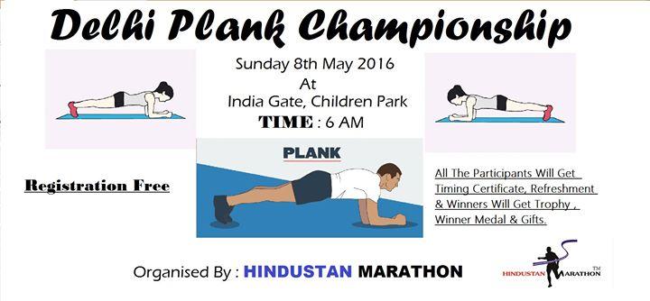 Delhi Plank Championship At India Gate New Delhi