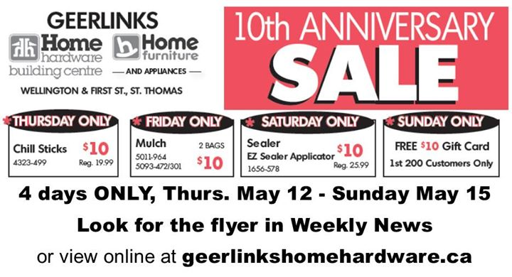 Event Details. Geerlinks SALE starts Thursday   SAVE up to 70  throughout store