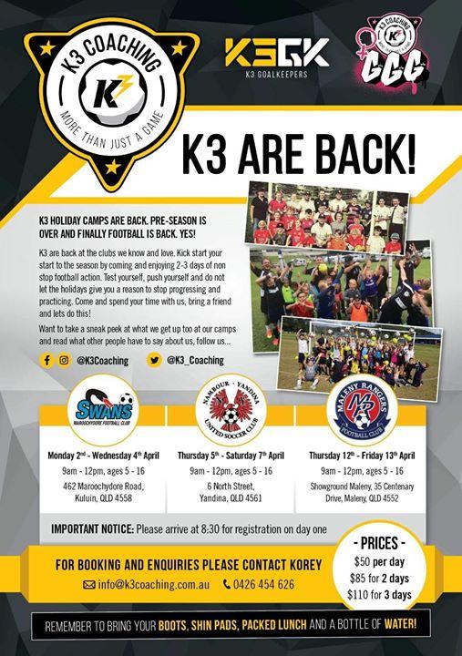 K3 EASTER CAMP - NAMBOUR YANDINA UNITED FC | yandina