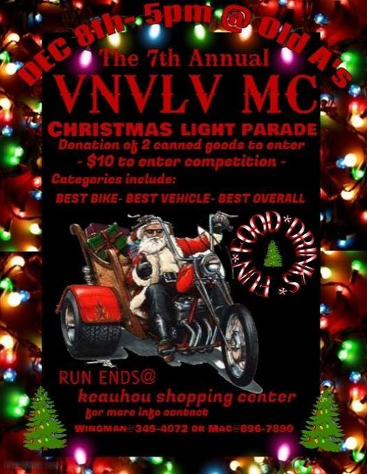 VNVLV MC 7th Annual Christmas Light Parade