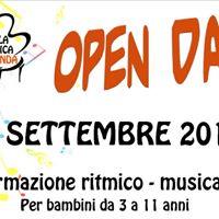 Open day - Formazione ritmico - musicale