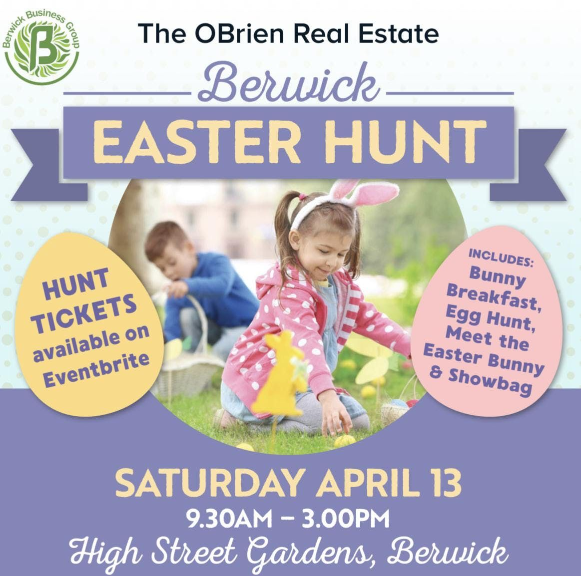 Berwick Easter Egg Hunt by OBrien Realestate Berwick & Berwick Business Group