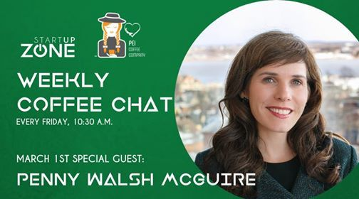 Weekly Coffee Chat with Special Guest Penny Walsh McGuire