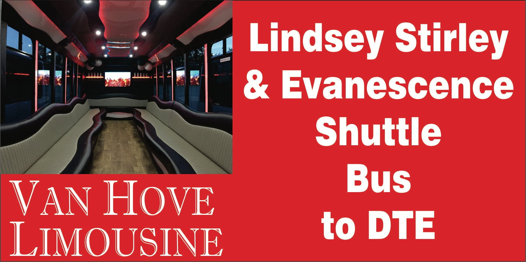 lindsey stirling shuttle bus to dte music theatre from hamlin pub 25