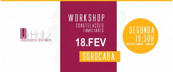 Sorocaba - Workshop de Constelaes Familiares