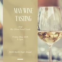 May wine tasting with Blu Olive food truck