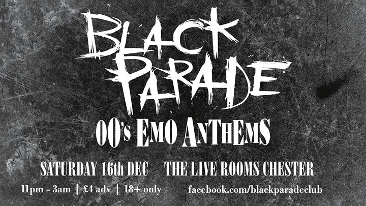 black parade 00s emo anthems at the live rooms chester chester