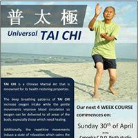Universal Tai Chi Course Fundraiser