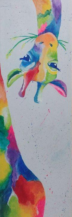 Paint Colorful Giraffe