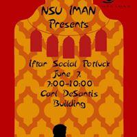 NSU IMAN Iftar Social Potluck