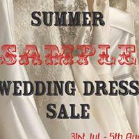 Summer Sample Sale 31st Jul - 5th Aug