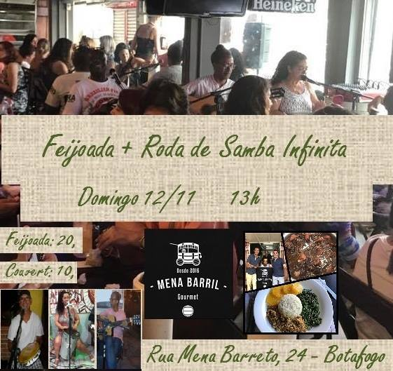 2b04eb1841d Feijoada e Roda de Samba Infinita no Mena Barril Gourmet at ...