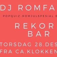DJ Romfarer - romjulspopquiz etterfest - Rekord bar