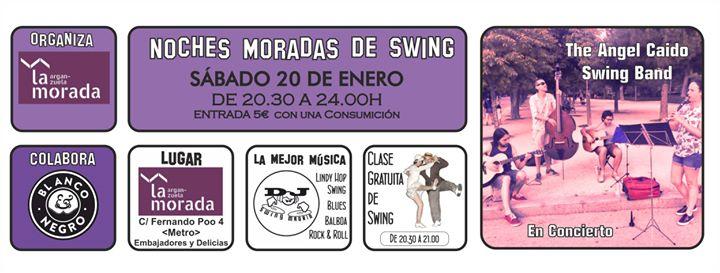Las Noches Moradas de Swing. Concierto de The Angel Caido Swing