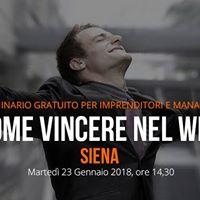 Seminario Gratuito - Come Vincere nel Web (Siena)