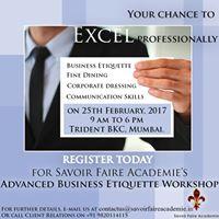 Advanced Business Etiquette Workshop