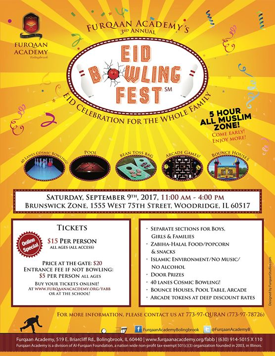Eid Bowling Fest 2017 At Brunswick Zone Woodridge Lanes Woodridge