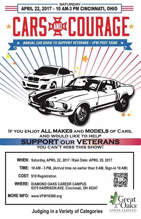 Cars And Courage Car Show At Diamond Oaks Career Campus Cincinnati - Car show in cincinnati this weekend