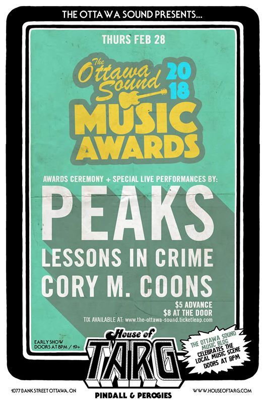 Ottawa Sound Music Awards Ceremony