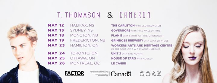 T ThomasonCAMERON in support of Hamiltons SAGE Youth Group