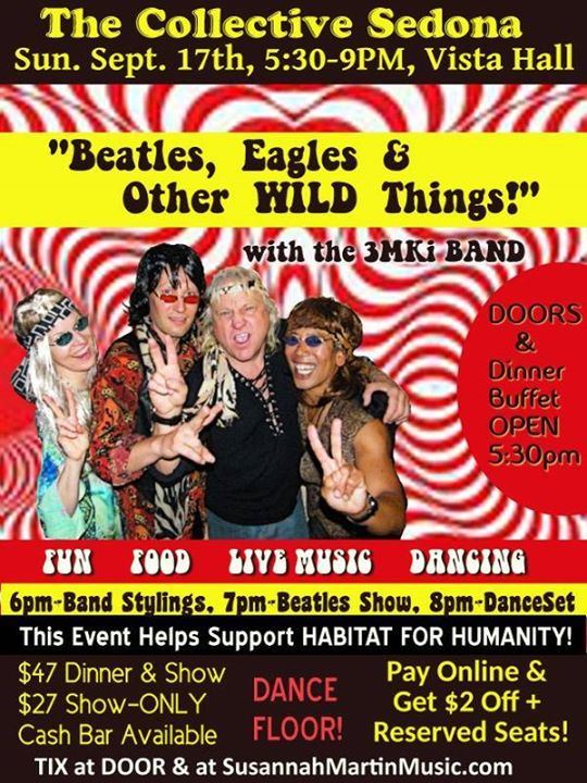 3MKi Beatles Eagles & Other WILD Things Dinner-Show-Dancing