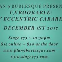 Unbookable An Eccentric Cabaret