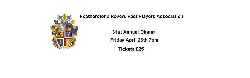 Featherstone Rovers PPA 31st Annual Dinner