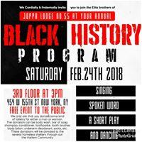 Joppa Lodge No. 55 Annual 2018 Black History Program