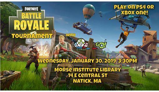 Fortnite Tournament At Morse Institute Library Natick Natick