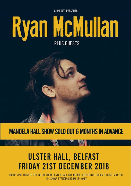 Ryan McMullan at Ulster Hall - on sale now