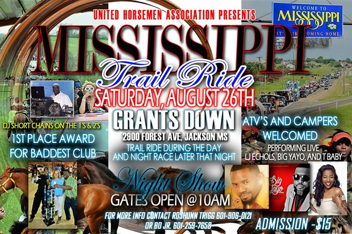 MISSISSIPPI TRAIL RIDE at Grant Downs!!,,Racetrack, Jackson