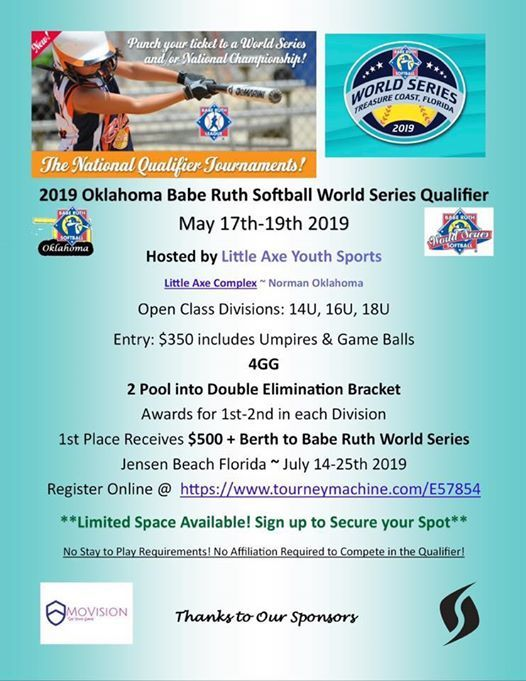 Babe Ruth World Series Qualifier Tournament at Little Axe Youth