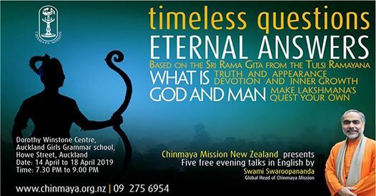 Free Evening Talk Series - Timeless Questions Eternal Answers