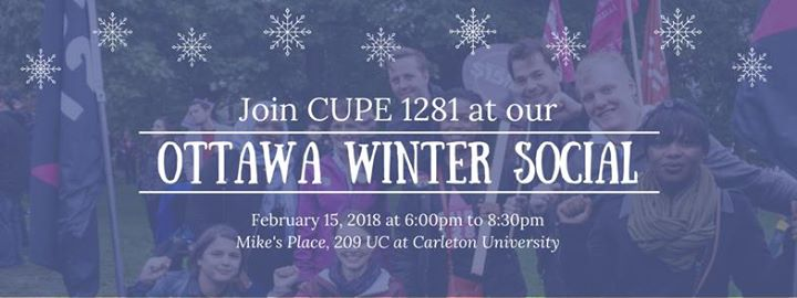 CUPE 1281 Ottawa Winter Social