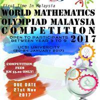 World Mathematic Olympiad Malaysia (WMO) Competitions 2017