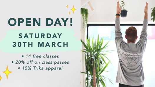 TRIKA OPEN DAY  14 free classes  20% off class passes