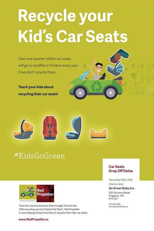 Car Seat Disposal >> Kingston Car Seat Recycling Day At Go Green Baby Kingston