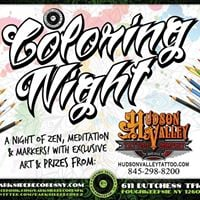 Coloring Night w Hudson Valley Tattoo Co