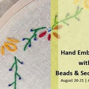 Hand Embroidery with Beads &amp Sequin work
