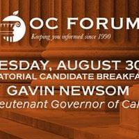 Gubernatorial Candidate Breakfast Gavin Newsom
