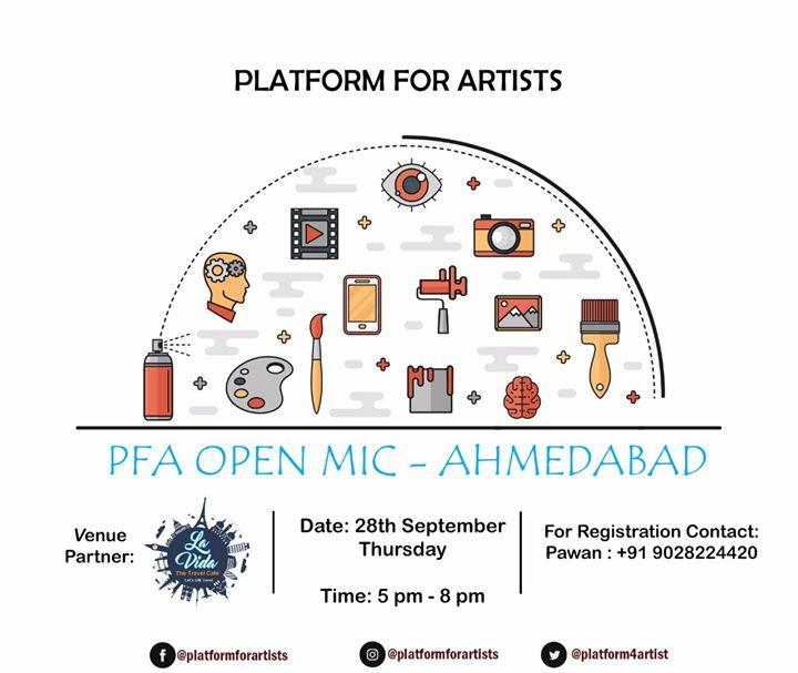 Platform For Artists Open Mic - Ahmedabad